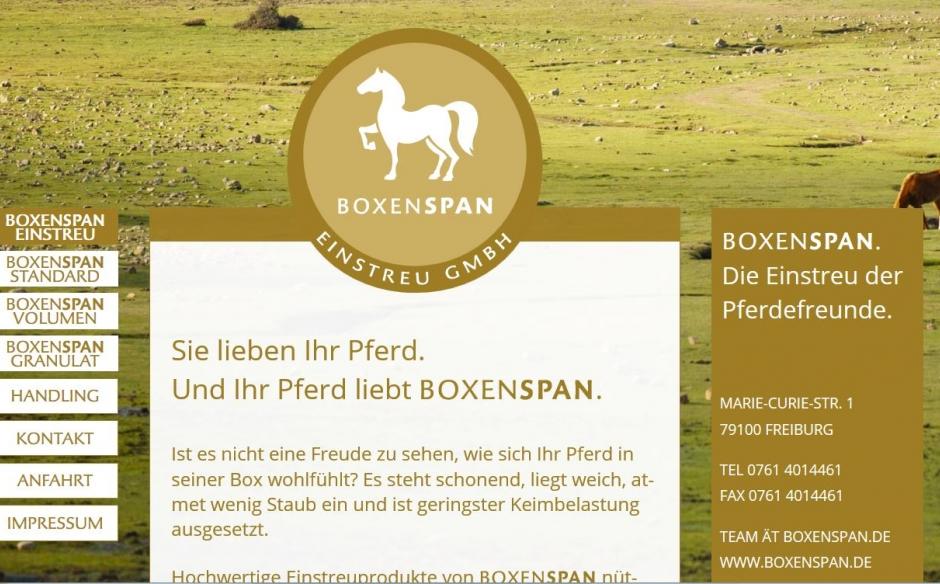 Story fürs Pferd: Boxenspan