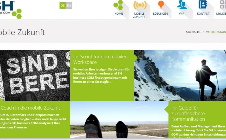 Die neue Website für SH business COM