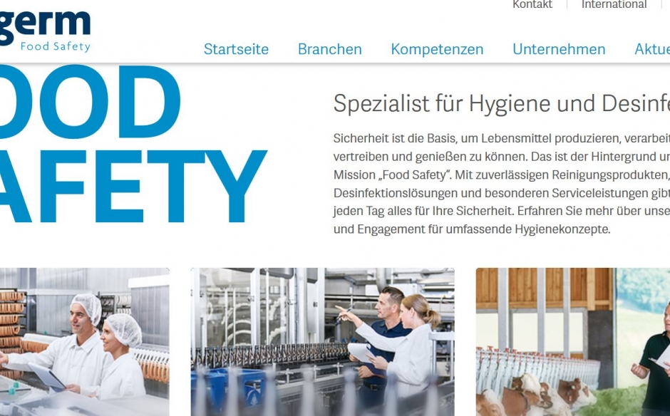 Sichere Lebensmittel, klare Worte: Website für Anti-Germ.